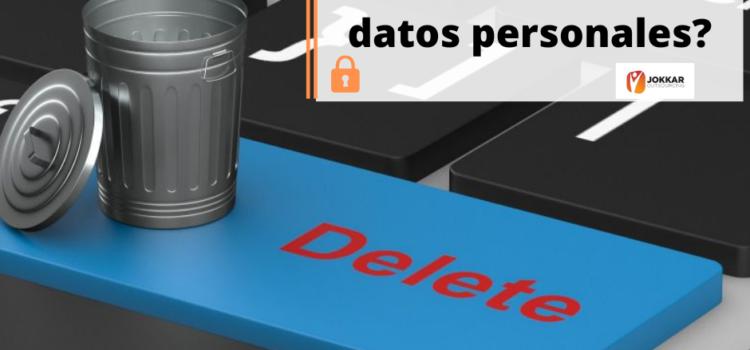 ¿Cómo eliminar datos personales?